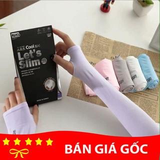 Ống tay chống nắng xỏ ngón Let s Slim Hàn Quốc thumbnail