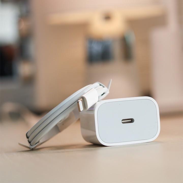 bộ củ sạc nhanh 18w zin mới cổng type-c ra lighting cho dòng điện thoại ip8/8plus/x/xs/xsmax/11/11pro/11promax