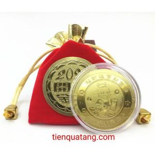 Combo 3 Đồng Xu Hình Con Trâu Quà Tặng Tết 202