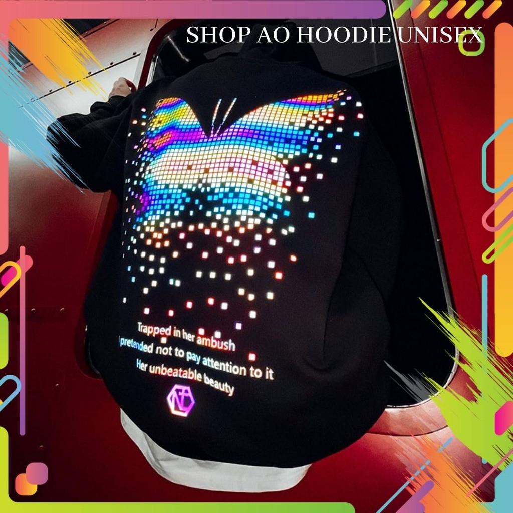 Áo khoác hoodie nỉ ngoại phản quang