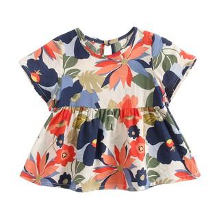 Đầm Sanlutoz họa tiết hoa phong cách mùa hè cho bé gái thumbnail