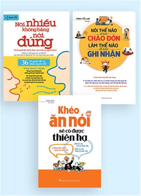 Sách Combo Khéo Ăn Nói Sẽ Có Được Thiên Hạ, Nói Thế Nào Để Được Chào Đón, Nói Nhiều Không Bằng Nói Đ - 2516920 , 369806749 , 322_369806749 , 243000 , Sach-Combo-Kheo-An-Noi-Se-Co-Duoc-Thien-Ha-Noi-The-Nao-De-Duoc-Chao-Don-Noi-Nhieu-Khong-Bang-Noi-D-322_369806749 , shopee.vn , Sách Combo Khéo Ăn Nói Sẽ Có Được Thiên Hạ, Nói Thế Nào Để Được Chào Đón, Nó