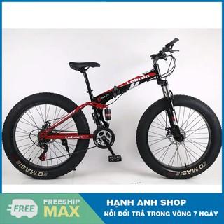 Xe đạp thể thao bánh béo khung gấp gọn LEBRON - Xe đạp leo núi - Bảo hành 12 tháng thumbnail