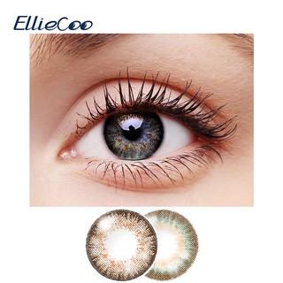 Bộ 2 cái cặp kính áp tròng EllieCoo màu chocolate vàng xanh lá dùng làm đẹp hóa trang thumbnail