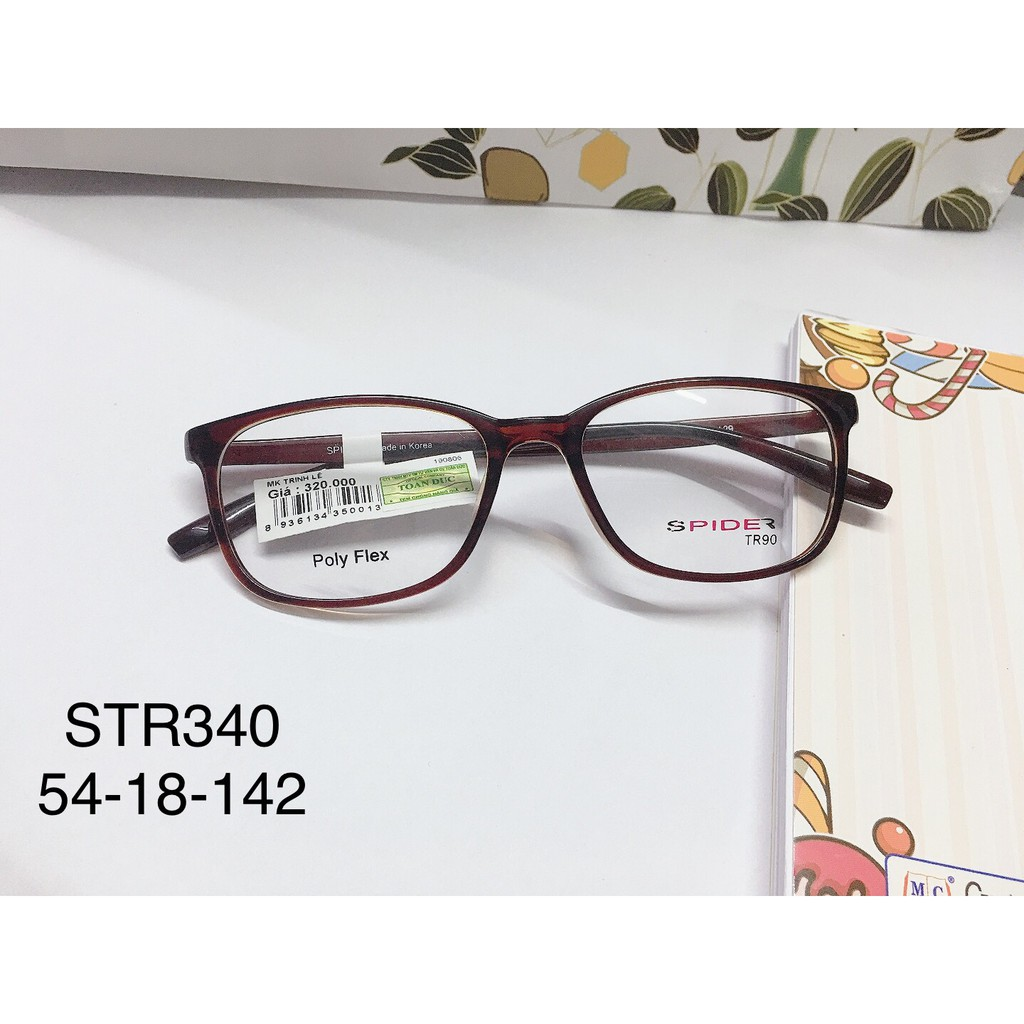 Giá bán Gọng Kính Cận Nhựa Dẻo Chính Hãng Str340 Nâu Hàn Quốc