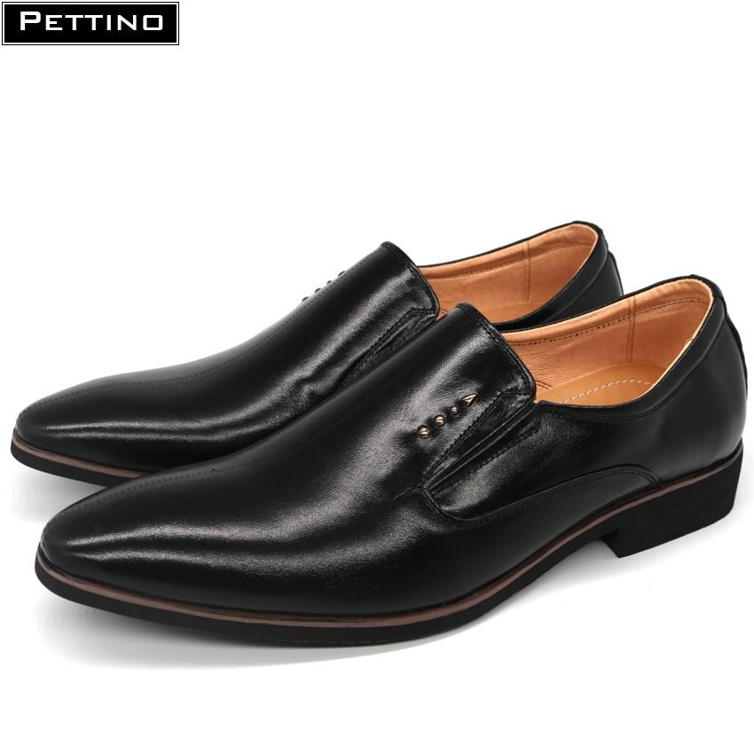 [FREESHIP TỪ 99K HN+HCM] Giày Lười Công Sở Nam Da Bò Cao Cấp - Pettino PL03