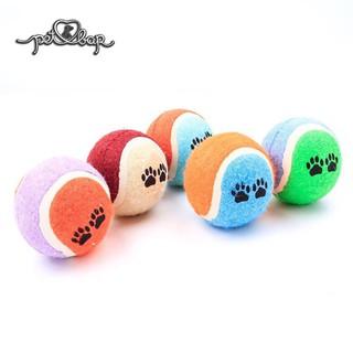 Đồ chơi cho thú cưng bóng tennis Đồ chơi tương tác quả bóng ném cho chó mèo thumbnail
