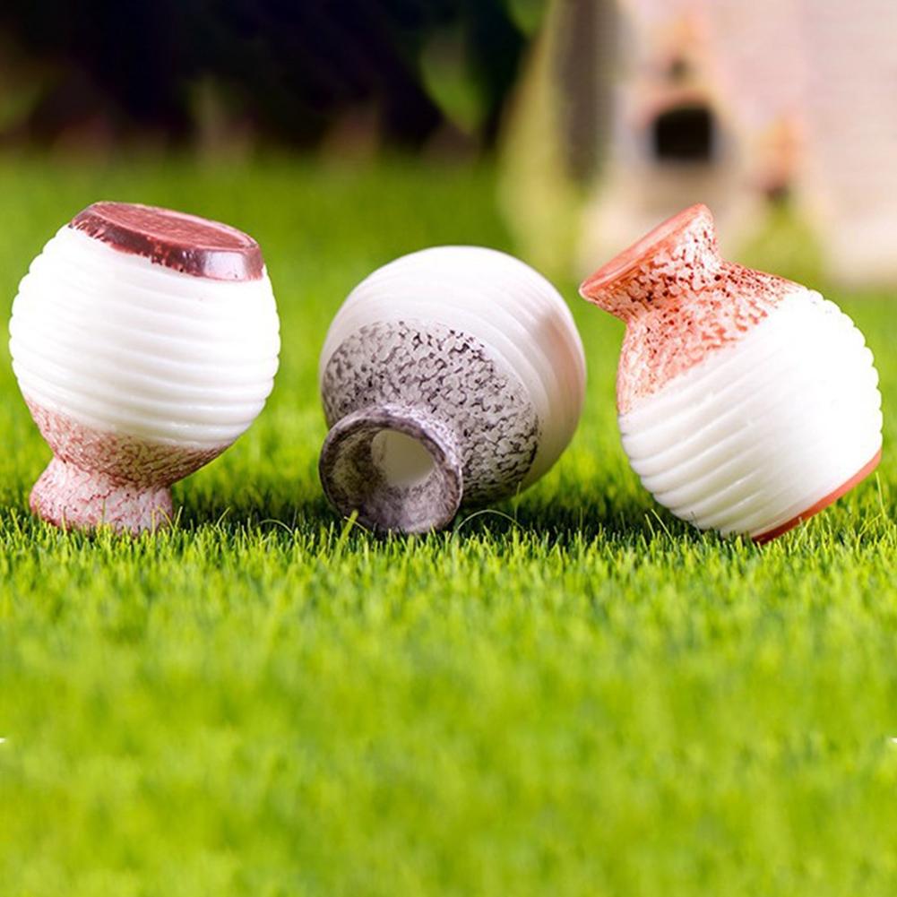 3pcs/Set Home Miniature Mini Vase Craft Fairy Garden Micro Landscape Decoration
