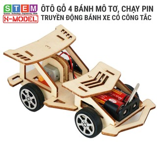 Đồ chơi sáng tạo STEM Ô tô đồ chơi gỗ động cợ truyền động XMODEL Đồ chơi DIY Do it Yourself Giáo dục STEM STEAM