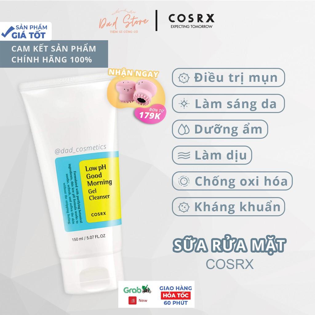 Sữa Rửa Mặt Dạng Gel Chiết Từ Dầu Cây Trà Cosrx Low PH Good Morning Gel Cleanser 150 ml - Da.d Cosmetics