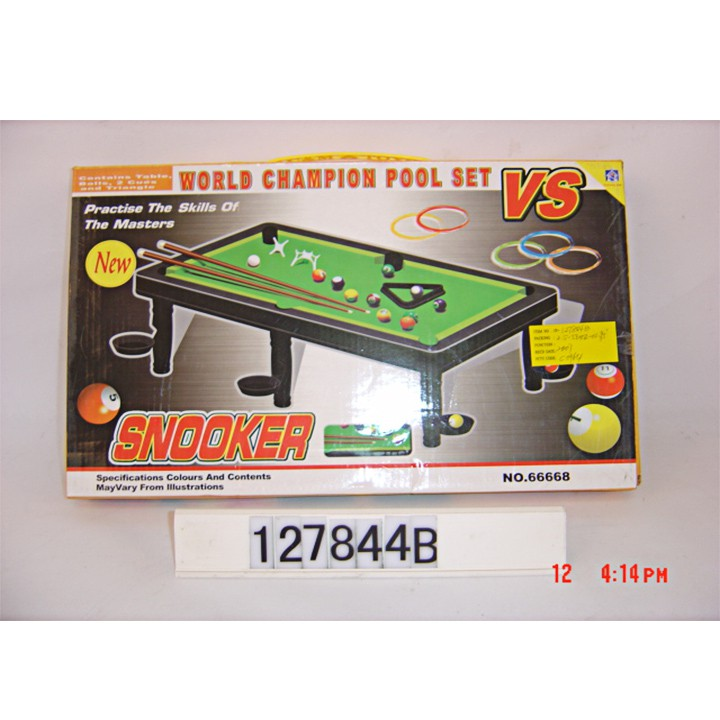 w084088-Bộ đồ chơi bàn Bida lỗ mini – Billiards Snooker