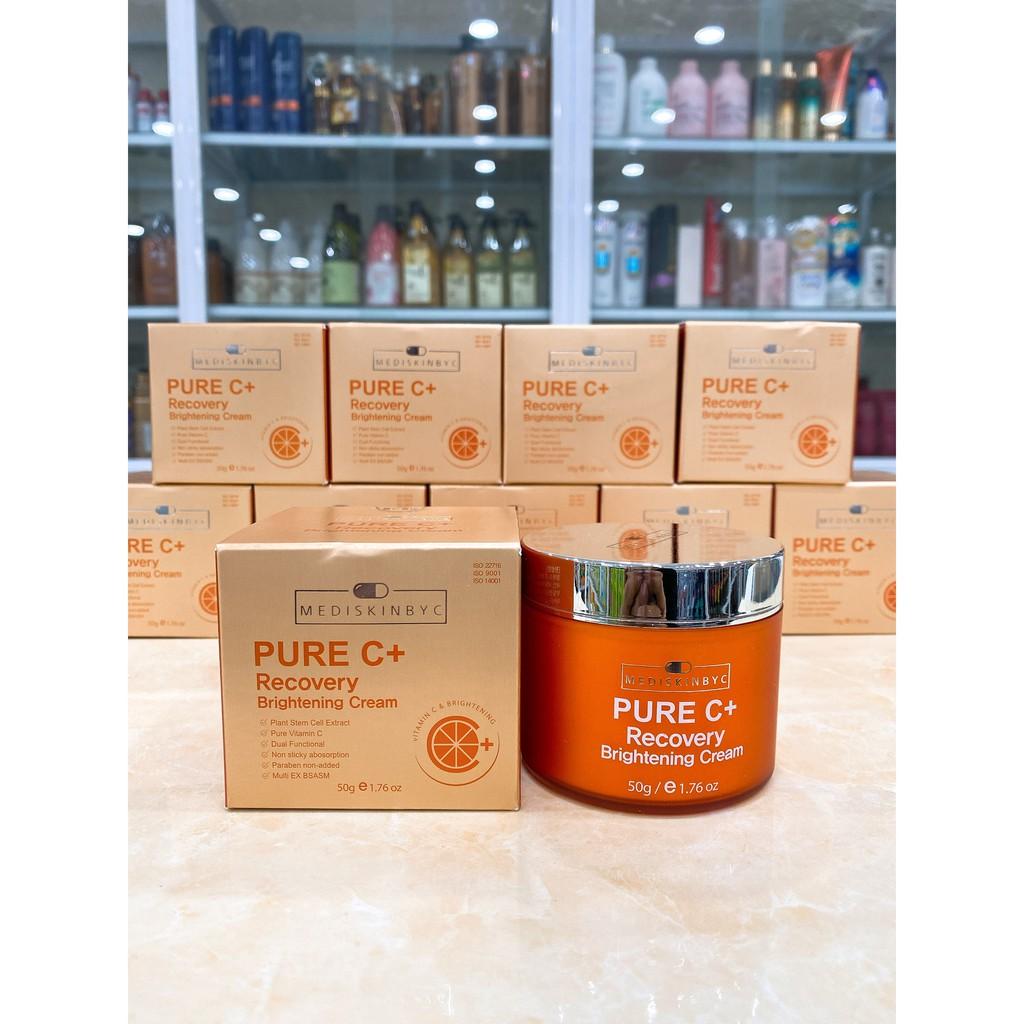 Kem Dưỡng Trắng Da Ngăn Ngừa Mụn Thâm MediskinbyC Pure C+ Recovery Brightening Cream 50g Hàn Quốc