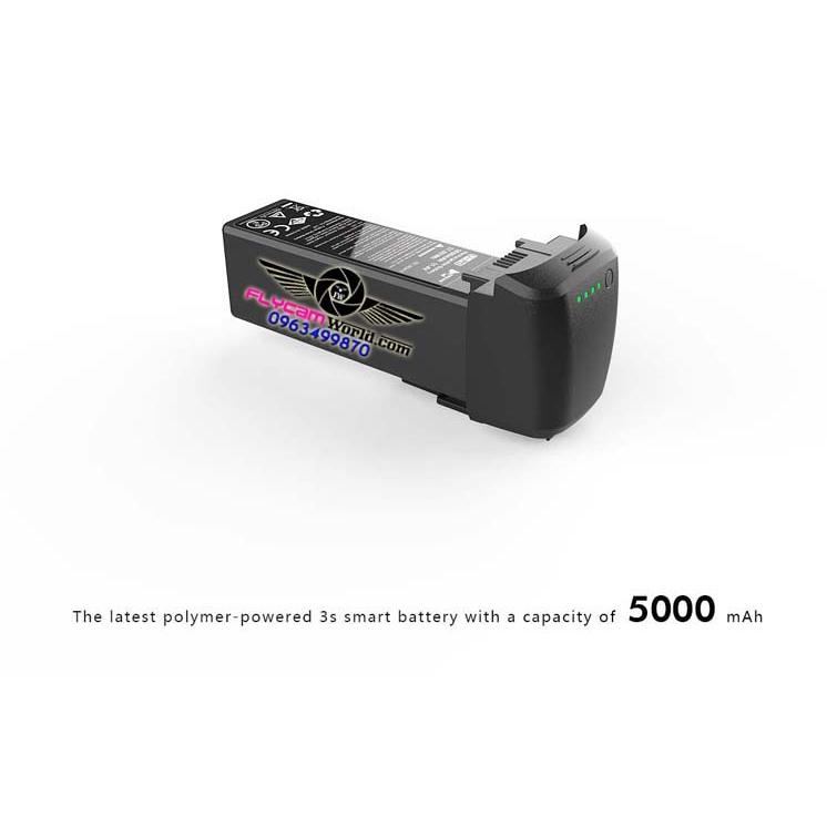 Pin thông minh Flycam Hubsan Zino Pro Plus 11.4V 5000 mAh 43 phút