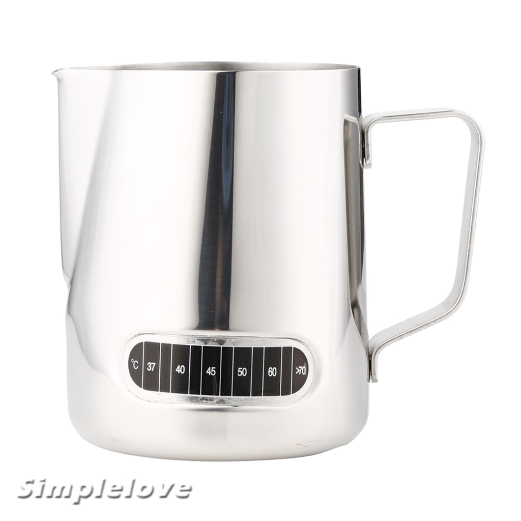 [SIMPLELOVE] Milk Frothing Pitcher, Stainless Steel Creamer Frothing Pitcher (600 ml)