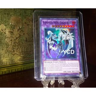 Thẻ bài yugioh chính hãng Elemental HERO Chaos Neos – Super Rare