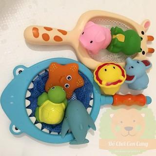 Đồ chơi nhà tắm combo vợt lưới và 3 con động vật/ động vật biển (ngẫu nhiên)