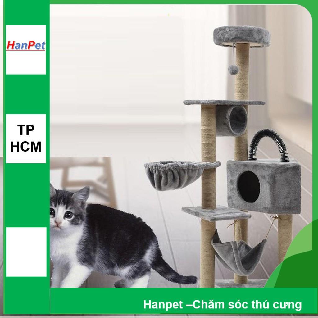 (Hàng hot) Trụ mèo 3 tầng & 4 tầng nhiều bộ phận dạng nhà cây cats tree kiêm cào móng nhà mèo cho mèo chơi đùa