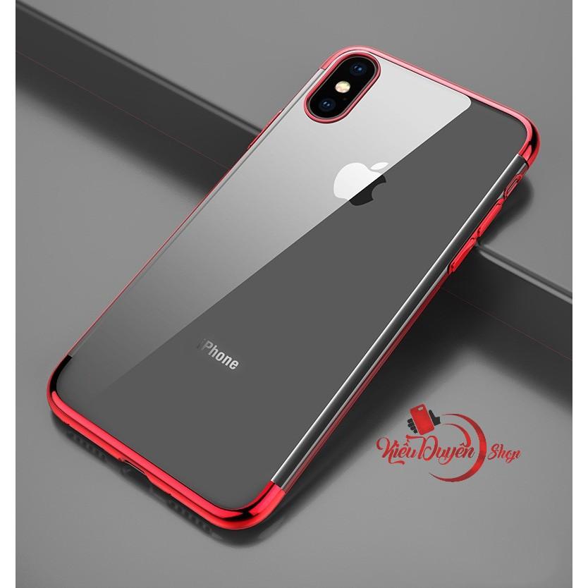 Ốp lưng Iphone X lưng trong viền màu cao cấp