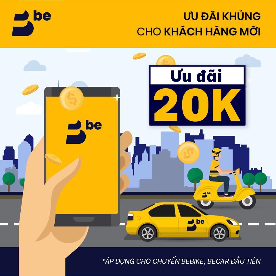 Người Mới [E-Voucher] Giảm 20k cho chuyến đi đầu tiên cùng be (áp dụng beBike, beCar)