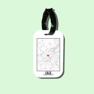 Travel tag cho túi xách balo du lịch in hình Love City - Lille thumbnail