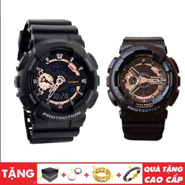 Đồng hồ thể thao kim điện tử nam đen GS GA110