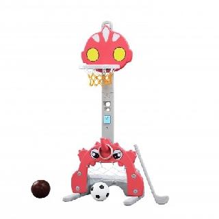 Bộ đồ chơi thể thao đa năng cho bé Golf, bóng đá, ném vòng, bóng rổ Toyshouse L-ATM03 - Màu hồng, hình Siêu Nhân