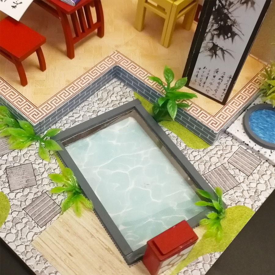Nhà búp bê Mô hình láp ghép DIY NGHỆ THUẬT THƯ PHÁP S921