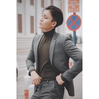 Bố vest kẻ lịch lãm, quần áo vest thời trang đẹp, phong cách Hàn Quốc