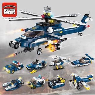 Lego lắp ghép trực thăng 8 món hơn 300 chi tiết