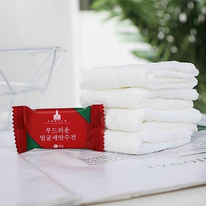 Giấy nénFREESHIP khăn giấy khăn nén viên kẹo Hàn Quốc túi 20 viên