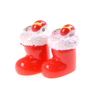▲▲2Pcs Miniature Christmas Stocking Socks Garden Decor Dollhouse Decoration Gift Fashion