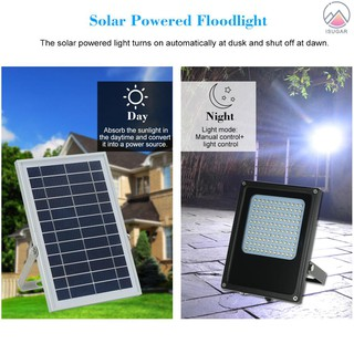 Solar Powered Floodlight 120 LED Solar Lights IP65 Waterproof Outdoor Security Lights for Home, Garden, Lawn