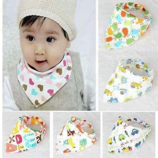 [[⚡️ Sale ⚡️] khăn yếm cho bé - 10 khăn tam giác cotton 2 lớp - loại đẹp | Bán Chạy