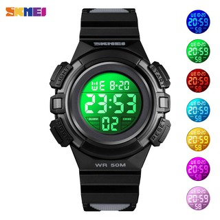 SKMEI 1559 Sport Children Watch Waterproof LED Digital Multifunction Casual Electronic for Boys Girls Gifts thumbnail