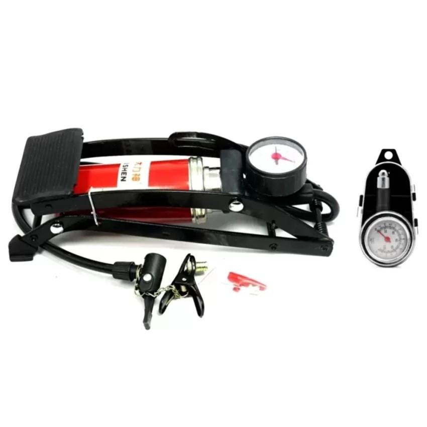 Bộ 1 bơm hơi đạp chân đơn thiết kế mới và 1 đồng hồ đo áp suất lốp xe cơ - 2701013 , 324464499 , 322_324464499 , 296000 , Bo-1-bom-hoi-dap-chan-don-thiet-ke-moi-va-1-dong-ho-do-ap-suat-lop-xe-co-322_324464499 , shopee.vn , Bộ 1 bơm hơi đạp chân đơn thiết kế mới và 1 đồng hồ đo áp suất lốp xe cơ