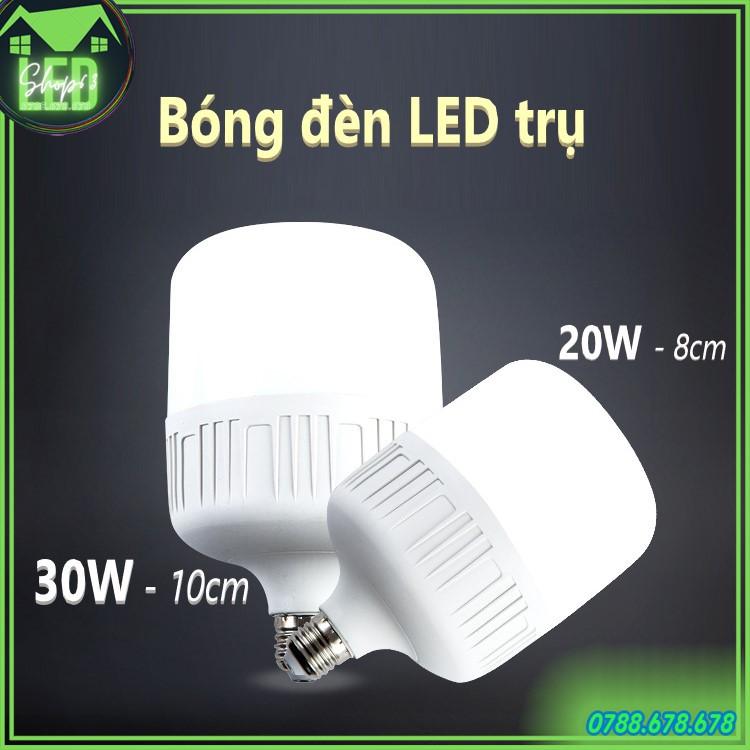Bóng đèn LED trụ tròn 20W 30W - ánh sáng trắng (hàng cao cấp loại siêu sáng - bao đổi trả)