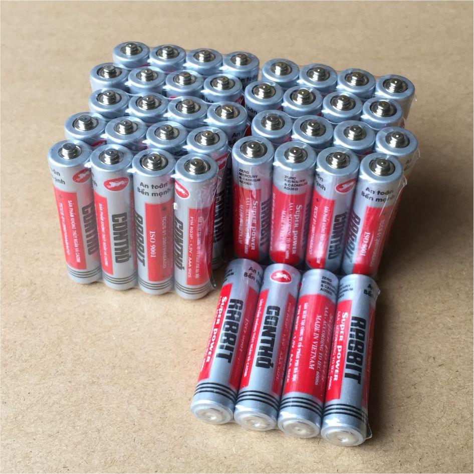 Pin AA   AAA con thỏ [Đơn vị tính 1 viên] điện áp 1,5v (pin tiểu, đũa)