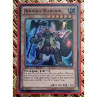 Dododo Warrior- WGRT-EN059 limited edition super rare