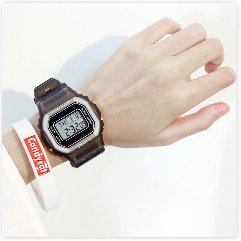 Đồng hồ điện tử  1 ĐỔI 1   Đồng hồ điện tử nam nữ Candycat Sppors chống trầy xước, chống thấm nước hiệu quả 9036