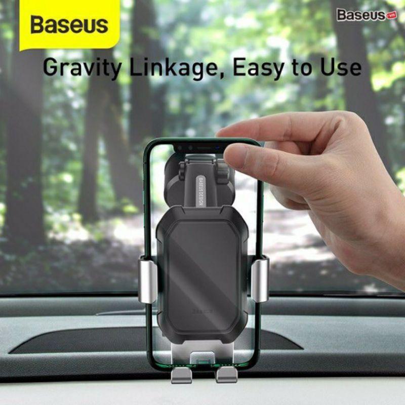 Bộ giá treo điện thoại dùng gắn kính hoặc táp lô trên xe hơi Baseus Simplism Gravity (Car Mount/ Holder with Suction Bas