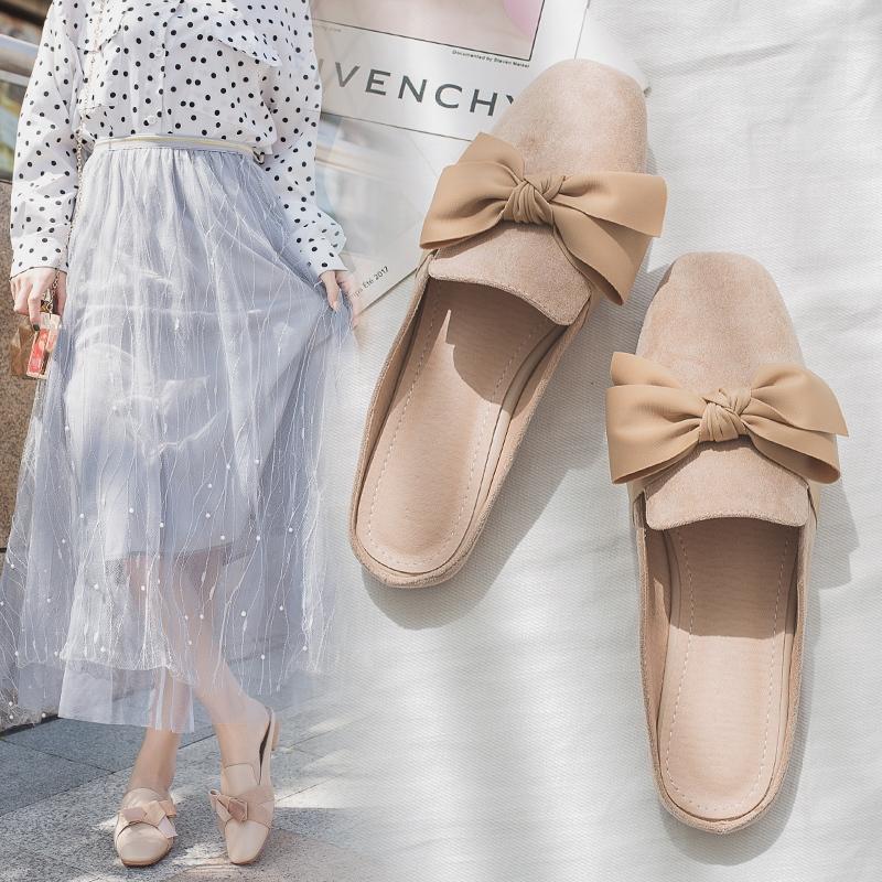 Giày sục thắt nơ bản nữ tính - G033