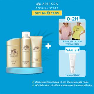 """Bộ kem chống nắng Anessa dưỡng da và bảo vệ hoàn hảo cho da mặt, toàn thân và tóc ( SPF 50+ PA++++ ) giá chỉ còn <strong class=""""price"""">99.900.000.000đ</strong>"""