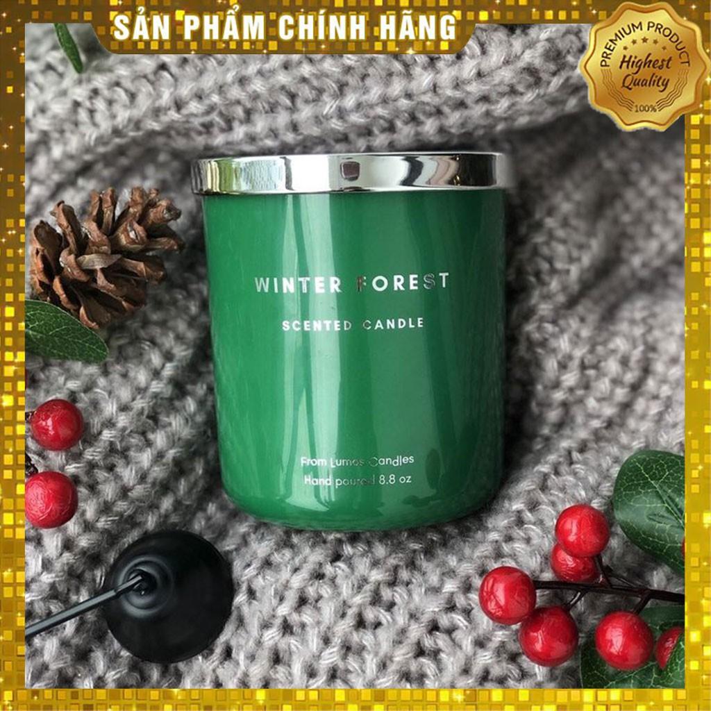 Nến thơm cao cấp Lumos (WINTER FOREST) Nến sáp Xuất Khẩu tự nhiên không khói an toàn - NT203