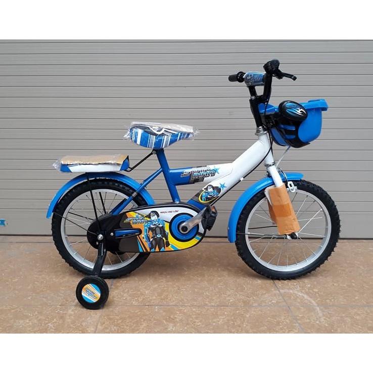 Xe đạp bánh 16 cho bé trai 5-8 tuổi (đỏ + xanh)