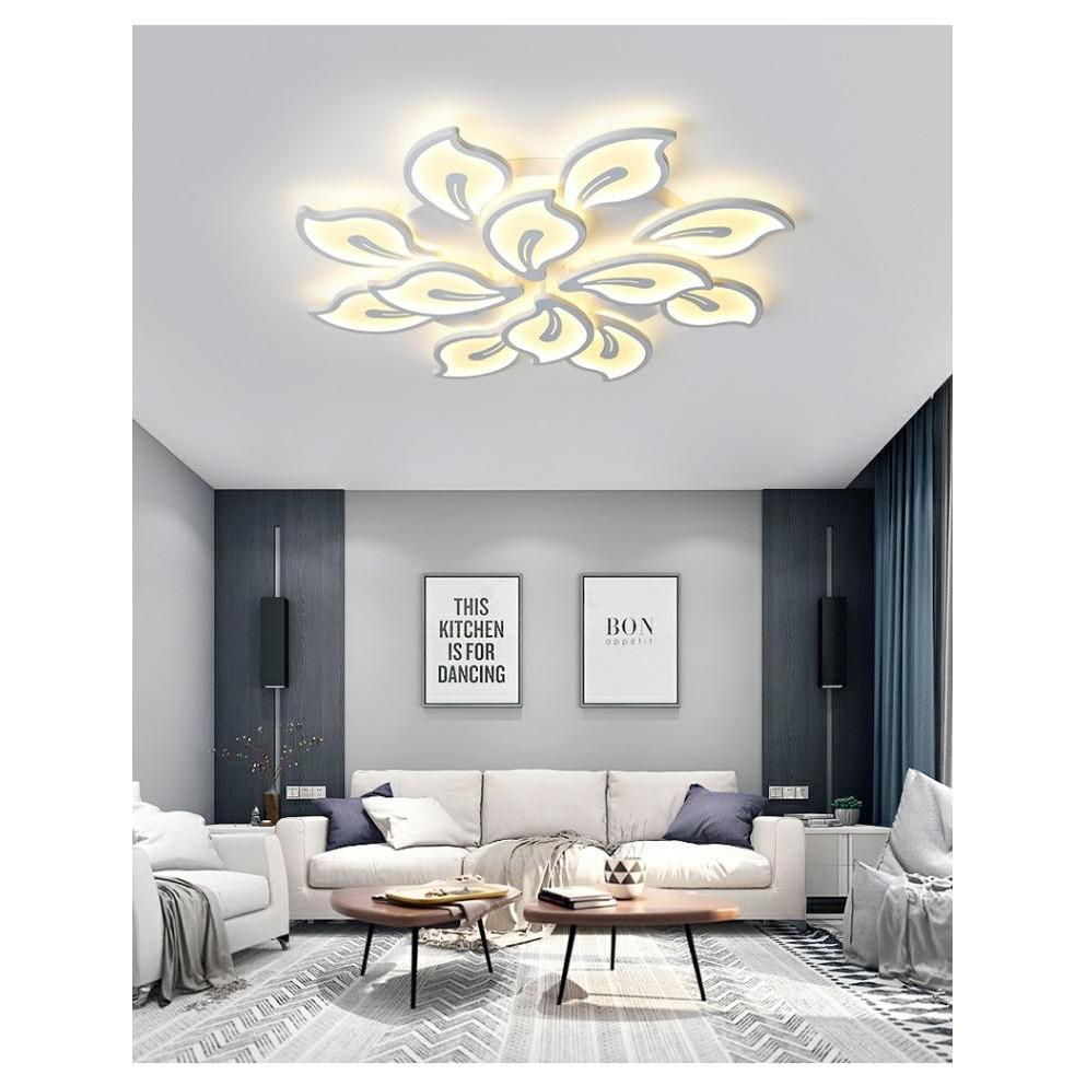 Đèn trần trang trí nội thất Led KK55 3 chế độ sáng - có điều khiển từ xa tiện dụng