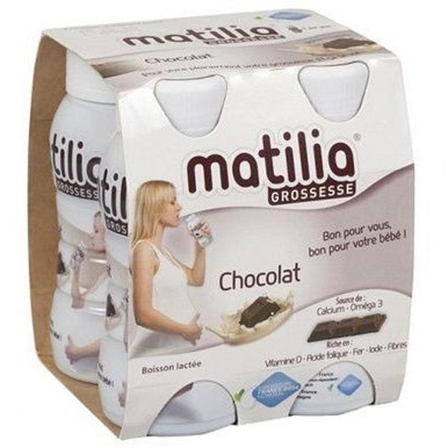 1 lốc sữa bầu matilia chocolate 1 lốc X 4 chai
