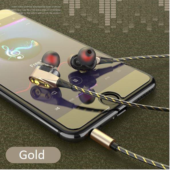 (Siêu bass) Tai nghe loa kép + Tặng hộp đựng tai nghe chống xoắn dây - SMB009