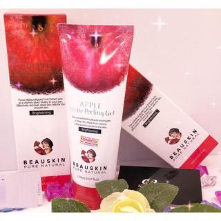 Tẩy tế bào chết từ táo đỏ Apple Beauskin Hàn quốc 150ml Hộp Và Mặt Nạ CollgenISK Beauskin 23ml Gói-4