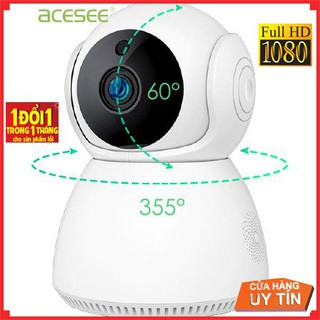 Camera wifi trong nhà Acesee AC01 chính hãng quay 355 đàm thoại 2 chiều full hd thumbnail