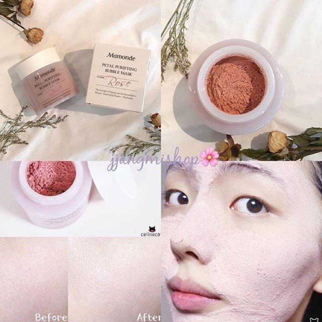 Mặt nạ sủi bọt hoa hồng Mamonde Petal Purifying Bubble Mask